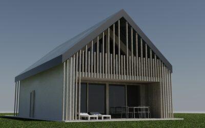 Дом с разрешением на строительство у озера Бохинь